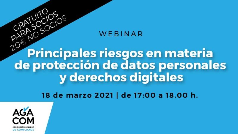 WEBINAR – Principales riesgos en materia de protección de datos personales y derechos digitales